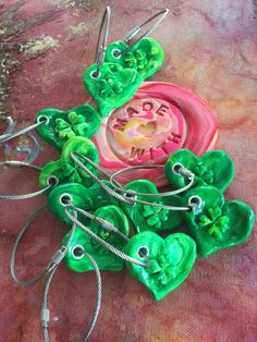 I love creating these Shamrock heart key chains. A little luck goes a long way.  🍀Join me at the Wilton Manor Art Expo on Wilton Drive this Saturday 6-9pm or follow the link below and get one of these awesome key rings in the mail. 🍀💚🧚‍♀️each petal on the Shamrock brings a wish your way.... A personal favorite from my Etsy shop https://www.etsy.com/listing/268126945/shamrock-charm-key-chain-st-patricks-day