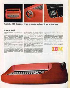 IBM Selectric Typewriter Ad.