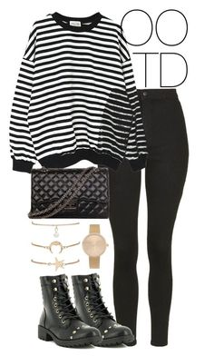 """""""OOTD 02-02-2017"""" by theeuropeancloset on Polyvore featuring Topshop, WithChic and Banda #hipsteroutfits"""