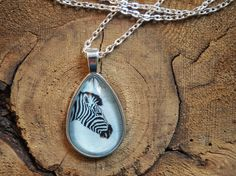 Items similar to Zebra Pendant, Silver Jewelry, Teardrop Shape Charm, Glass Art Pendant, Original Photograph Necklace on Etsy Glass Art, Silver Jewelry, Photograph, Charmed, Shapes, Pendant Necklace, Etsy, Animals, Fashion