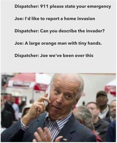 A roundup of the best memes showing Barack Obama and Joe Biden's imagined conversations about pranking Donald Trump.: Home Invasion Joe And Obama, Obama And Biden, Biden Trump Memes, Joe Biden Meme, Joe Meme, Funny Cute, Really Funny, Hilarious, Funny Pics