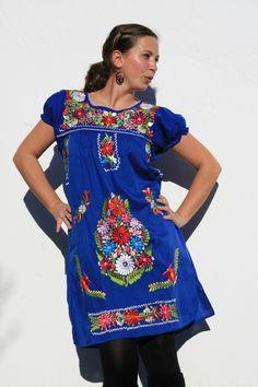 Entdecke lässige und festliche Kleider: Minikleid FLORIDA M, L mexikanische Mode made by ModaFrida - Ethnic Fashion via DaWanda.com