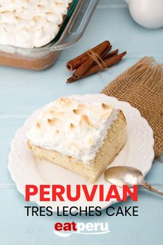 A Delicious Peruvian favorite. This creamy dessert recipe is easy to follow and make, even for the inexperienced cook or foodie.  #PeruvianFood #EatPeru #PeruRecipes #PeruFood #FoodieRecipes Peruvian Desserts, Peruvian Recipes, Ice Cream Deserts, Steak Dinner Sides, Cake Recipes, Dessert Recipes, Tres Leches Cake, Summer Grilling Recipes, Great Desserts