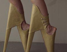 Scary Beautiful Shoes by Leanie van der Vyver - Design Milk Crazy Shoes, Me Too Shoes, Weird Shoes, Stiletto Heels, High Heels, Ballet Shoes, Dance Shoes, Shoe Art, Sock Shoes