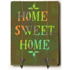 Zipcode Design Home Sweet Home Wood Wall Mounted Coat Rack