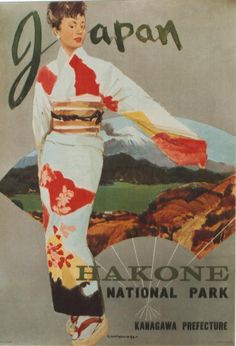 Original vintage poster JAPAN HAKONE N.PARK GEISHA c.1960 #Artistic