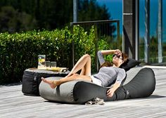 Lounging around is rough, right? Well, sometimes it can be when you're in one of those uncomfortable chairs made from hard wood. This curvy Outdoor Bean Bag Lounger from the New Zealand-based Lujo Living aims to change that. Remember how comfortable bean bag chairs were when we were kids? Here's an adult version for you to relax on while soaking up some sun.