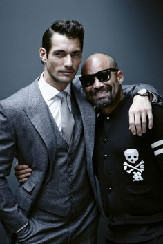 David Gandy with Arnaldo Anaya-Lucca for GQ Style Brazil.  Hair by Larry King.  Shot at David Gandy's London home.