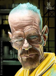 Bryan Cranston by Marzio Mariani (All Rights Reserved) #Celebrity #Caricatures #Oddonkey
