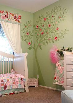200 mejores imágenes de Habitaciones Bebe Niña   White bedrooms ...