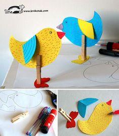 CLOTHESPIN BIRDS