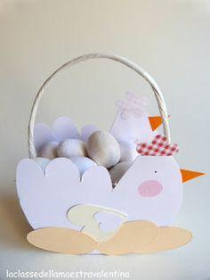 Questo simpatico cestellino, è il regalino che i miei bimbi faranno a Pasqua per mamma e papà.       Vorrei suggerirvi di tenere da con...