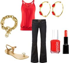 """""""Coral"""" by vintagesparkles78 ❤ liked on Polyvore"""