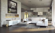 The Modern Collection Living Room by Modani Furniture