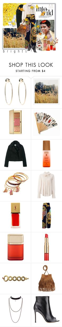 """""""Into the Wild... Autumn Brights"""" by dixiejos ❤ liked on Polyvore featuring Anja, Bebe, Pottery Barn, Estée Lauder, Free People, Hush, Chloé, Yves Saint Laurent, Cartier and H&M"""