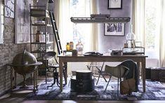 Mannen werkkamer met grote houten tafel | A study for man with a big wooden table | vtwonen 13-2017 | Fotografie Jeroen van der Spek| Styling Liza van Wassenaar