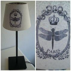 Cambio de look de una lámpara en http://eltallerdelartesana.blogspot.com.es/