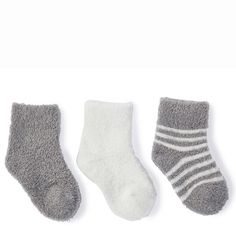 Barefoot Dreams® CozyChic® Lite Infant Sock Set of 3 Barefoot Dreams, Baby Socks, Baby Feet, Little Babies, 12 Months, Bamboo, Infant, Pairs, Gift