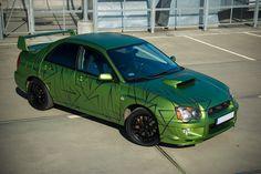 Subaru Impreza STI car wrapping www.wrap-zone.pl