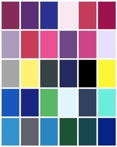 Winter Color Palette - www.tealinspiration.com