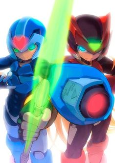 Mega Man Zero and X from the Mega Man Zero games