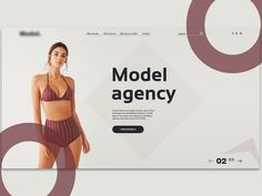 Model Agency Landing Page designed by Beka Barbakadze. Connect with them on Dribbble; Modern Web Design, Id Design, Web Design Tips, Design Strategy, Web Design Inspiration, Design Model, Layout Design, Web Layout, Clean Design