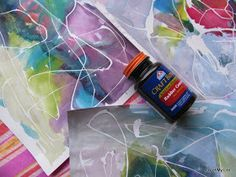 rubber cement masking with watercolors kids art