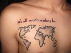 Map tattoo. Love the shading.