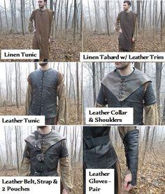 Ranger Outfit Set Complete Medieval Archer Costume Custom