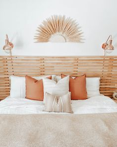 Design by: Mahria Murr @oursmalltownsquad Featuring Pillows by Tonic Living: Tuscany 22x22 Sedona, Sandpiper 14x20, Handlavet 22x22 Tuscany, Decorative Pillows, Bed Pillows, Sofa, Bedroom, Design, Home Decor, Color, Decorative Throw Pillows