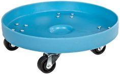 "Dixie Poly D-20-30 Plastic Drum Dolly for 30 gallon Drum, 600 lbs Capacity, 20.5"" Diameter x 6.5"" Height, Blue by Dixie Poly Drum. $76.21. Plastic dollie with 4 swivle caster for 30 gal drum"