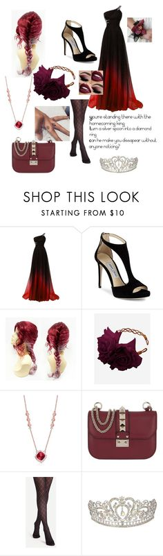 """""""Homecoming King By Andy Black"""" by piercethehorizon12 ❤ liked on Polyvore featuring Jimmy Choo, Rock 'N Rose, Collette Z and Valentino"""