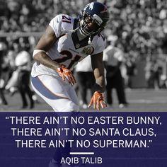 Aqib Talib told the world how he really felt about Cam Newton after the Broncos' Super Bowl victory. (via Denver Broncos/Twitter) 2/8/2016 Aqib Talib, Nfl Playoffs, Cam Newton, Tell The World, Denver Broncos, Super Bowl, Victorious, Superman, Football