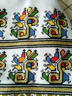 Folk Embroidery, Cross Stitch Embroidery, Folk Costume, Costumes, Knots, Anthropologie, Weaving, Arts And Crafts, Kids Rugs
