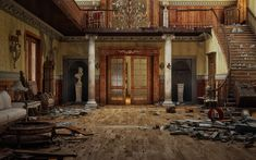 Grand Entry Hall now in ruins This must have been beautiful when it was new Abandoned Mansions, Abandoned Mansions For Sale, Abandoned Mansions For Sale Sheap, Abandoned Mansions Interior, Abandoned Mansions Creepy, Abandoned Mansions In The Woods, Abandoned Mansions For Sale Fixer Upper. #abandonedmansions