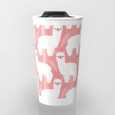 The+Alpacas+II+Travel+Mug+by+Littleoddforest+-+$24.00
