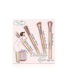 401893 - Vintage Cosmetics Smokey Eye Gift Set QVC Price: £18.00 + P&P: £2.95  This Smokey Eye Gift Set from Vintage Cosmetics includes a shadow brush, an angled shadow brush, a smudger brush, an eyeliner brush and a duo pencil sharpener. This fantastic set will help you to confidently create a stunning smokey eye look.