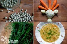 Kuchařka ze Svatojánu: HRACHOVÁ POLÉVKA SE ZELENINOU Carrots, Vegetables, Healthy, Food, Carrot, Veggies, Essen, Veggie Food, Vegetable Recipes
