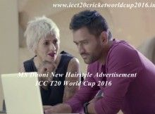 Mahendra Singh Dhoni Hairstyle Advertisement on T20 World Cup 2016