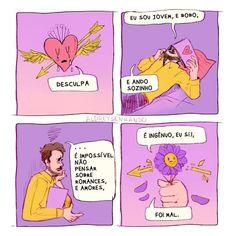 Tirinha bad pra não perder o costume. . . #aldreysenhando #tirinha #tirinhas #quadrinhos #ilustração #frases #amor First Blood, Dark Paradise, I Am Sad, Kids On The Block, Sad Girl, Anti Social, Derp, Comic Strips, Love Quotes