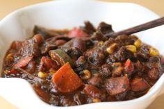 Portobello Vegetarian Chili close-up