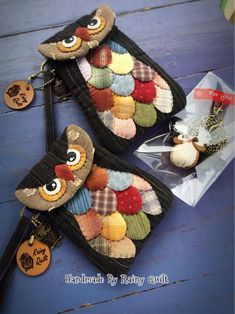 Best patchwork pattern bags ideas ideas The actual Fall/Winter style introduced at Paris, Owl Crochet Patterns, Patchwork Patterns, Sewing Patterns, Patchwork Baby, Crazy Patchwork, Fabric Crafts, Sewing Crafts, Sewing Projects, Owl Bags