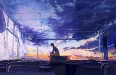 Find images and videos about anime, sky and manga on We Heart It - the app to get lost in what you love. Art Manga, Art Anime, Arte Peculiar, Graphisches Design, Anime Scenery, Aesthetic Art, Oeuvre D'art, Fantasy Art, Cool Art