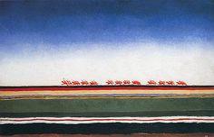 peinture russe : la charge de la cavalerie rouge, Kazimir Malevitch, 1932