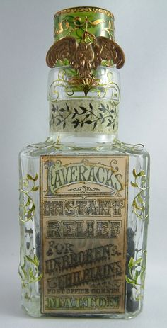 Lavarack's Instant Relief for Unbroken Chilbains - Join me at Artfully Musing in September 2012 for the Pretty Potions and Poisons Apothecary Event