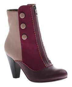 Look at this Dark Cranberry Sands of Time Bootie on #zulily today!