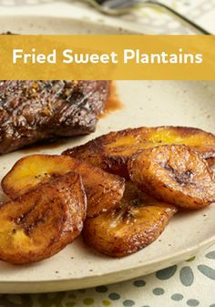 Fried Sweet Plantains: A classic Caribbean side dish recipe made by simply frying very ripe plantain slices in canola oil Mexican Food Recipes, Vegetarian Recipes, Cooking Recipes, Healthy Recipes, Vegetable Recipes, Comida Boricua, Caribbean Recipes, Carribean Food, Crudite