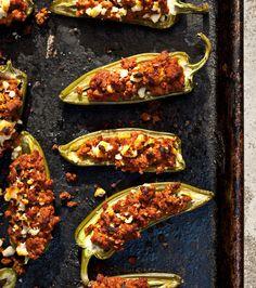 Chorizo Jalapeño Poppers... try it with chicken sausage chorizo. Fun bar food!