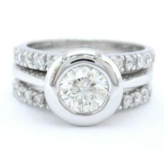 Bezel Set Engagement Rings Round 8