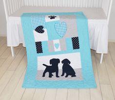 Edredón perrito manta edredón de guardería de perro niño